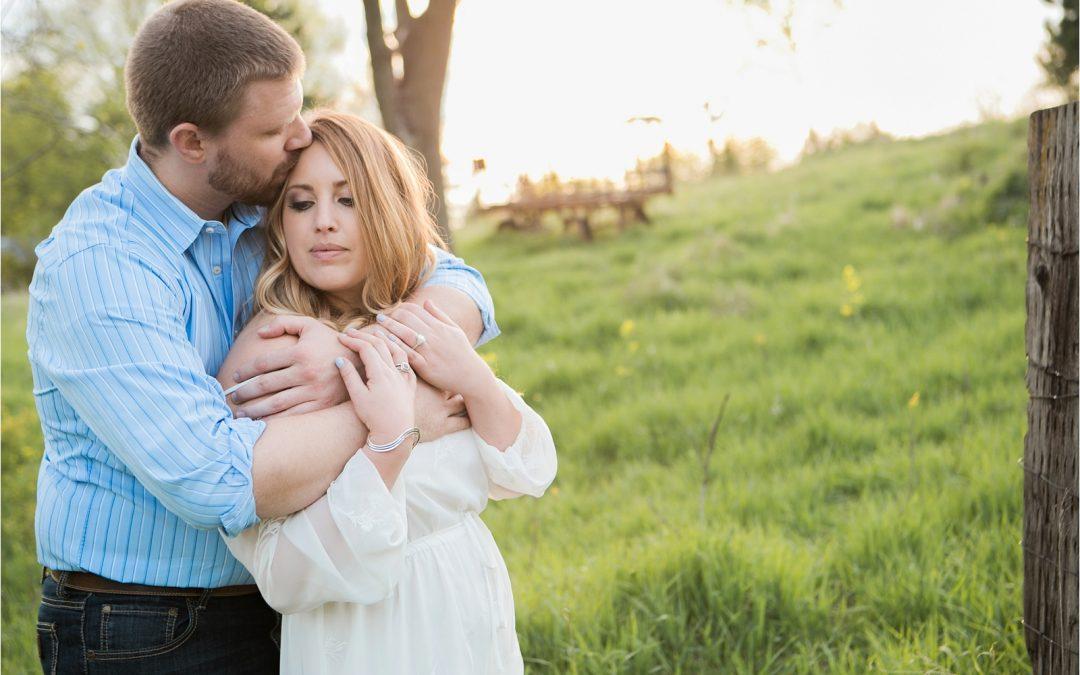 Lisa + Adam: Iowa Spring Engagement