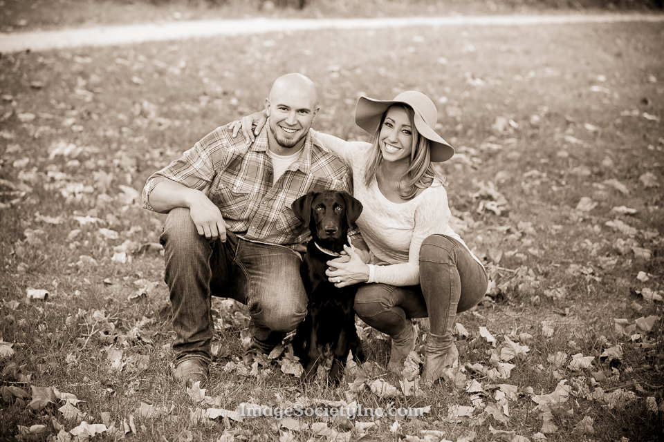 Melissa + Cody: Omaha Fall Engagement