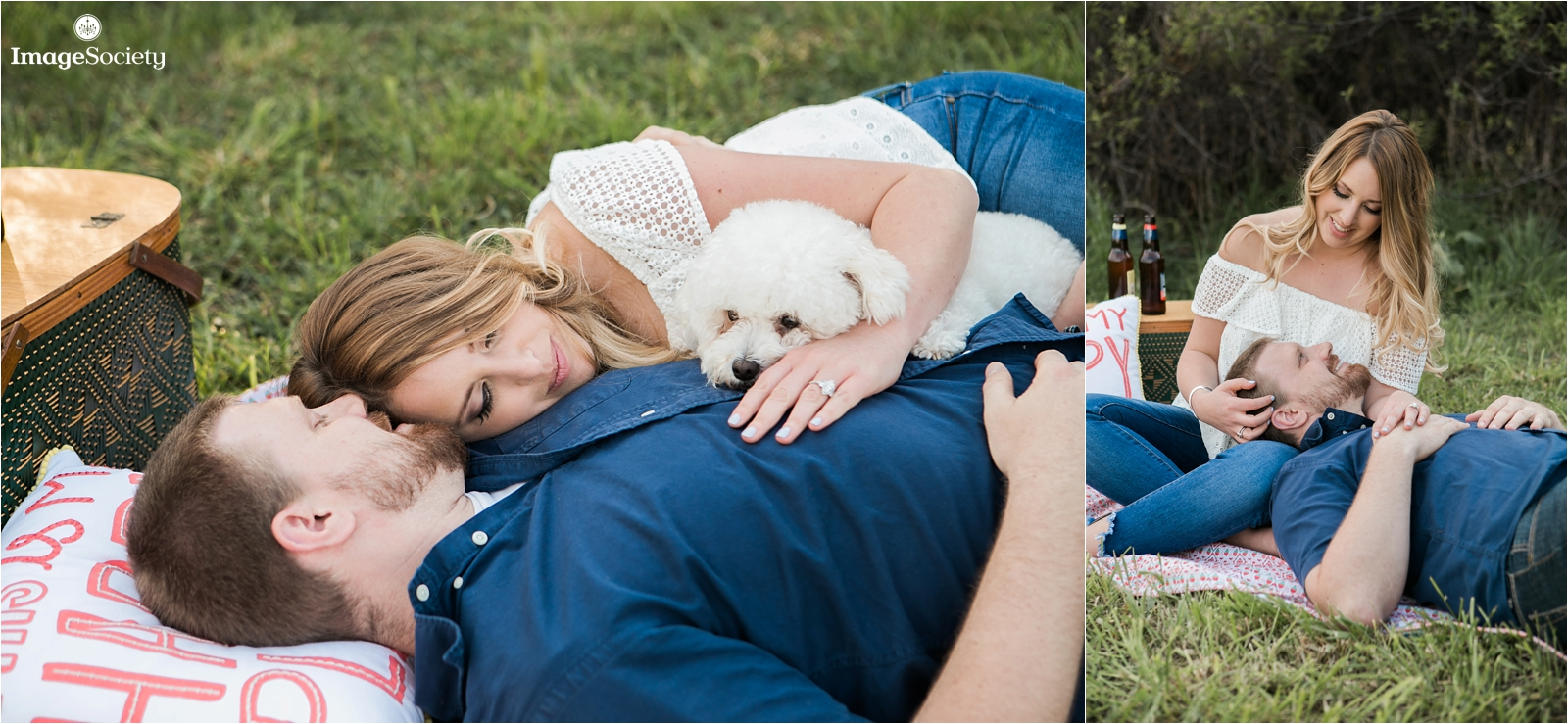 Picnic Engagement Session with Dog